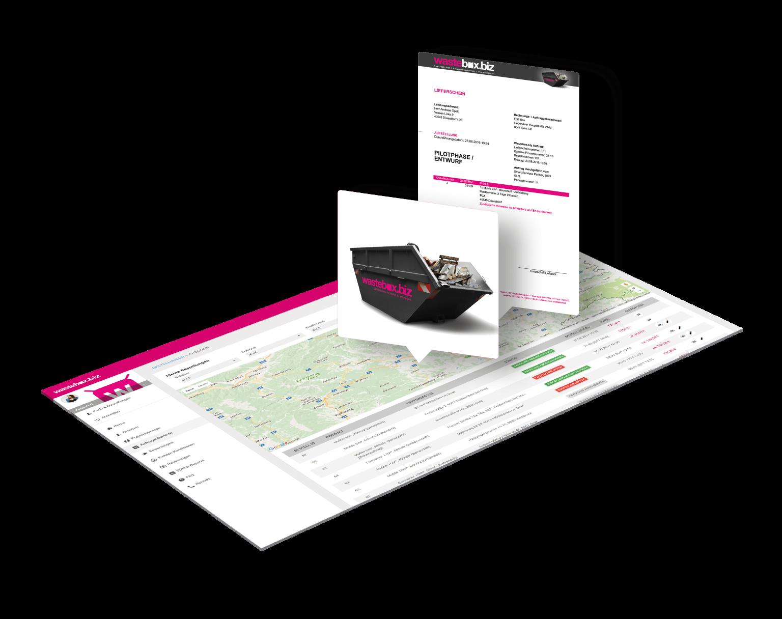 job overview - wastebox.biz web portal