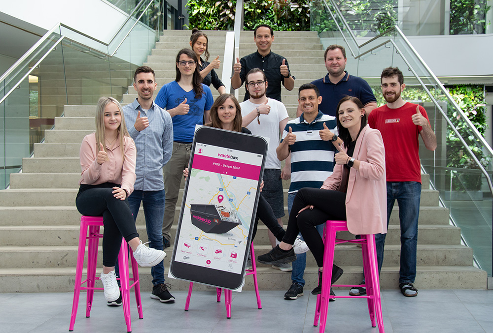The team of wastebox Austria.
